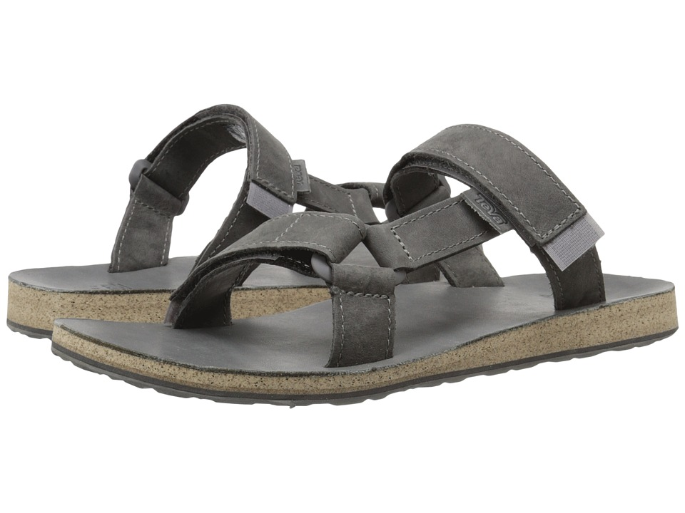Teva - Universal Slide Leather (Grey) Men's Sandals