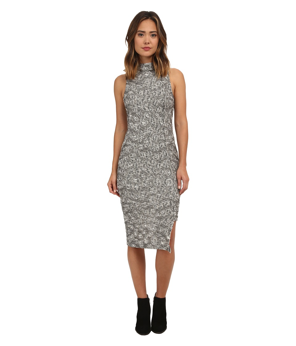 Free People - Jacquard Cora Midi Dress (Ivory/Black Combo) Women's Dress