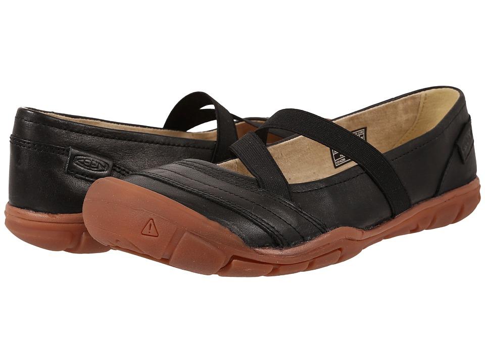 Keen - Rivington II Criss-Cross Canvas (Black) Women's Shoes