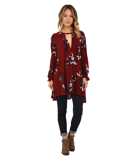 Free People - Tree Swing Tunic (Scarlet Combo) Women's Blouse