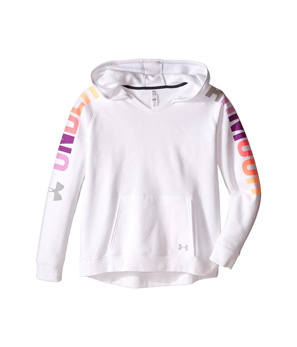Under Armour Kids - Favorite Fleece Hoodie (Big Kids) (White) Girl's Sweatshirt