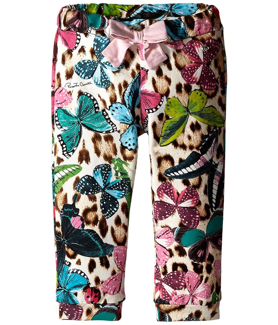 Roberto Cavalli Kids - Track Pants w/ Butterfly Print (Infant) (Multi) Girl's Casual Pants