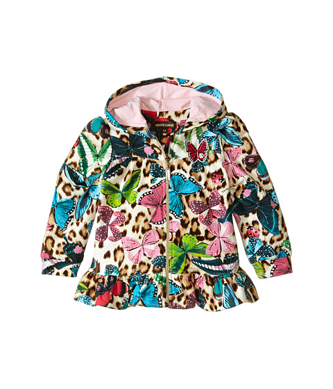 Roberto Cavalli Kids - Track Hooded Top w/ Butterfly Print (Infant) (Multi) Girl's Clothing