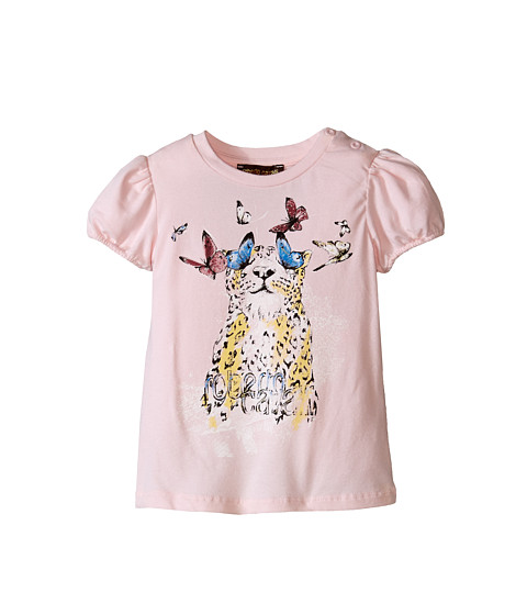 Roberto Cavalli Kids - Short Sleeve Leopard Tee w/ Butterflies (Infant) (Multi) Girl