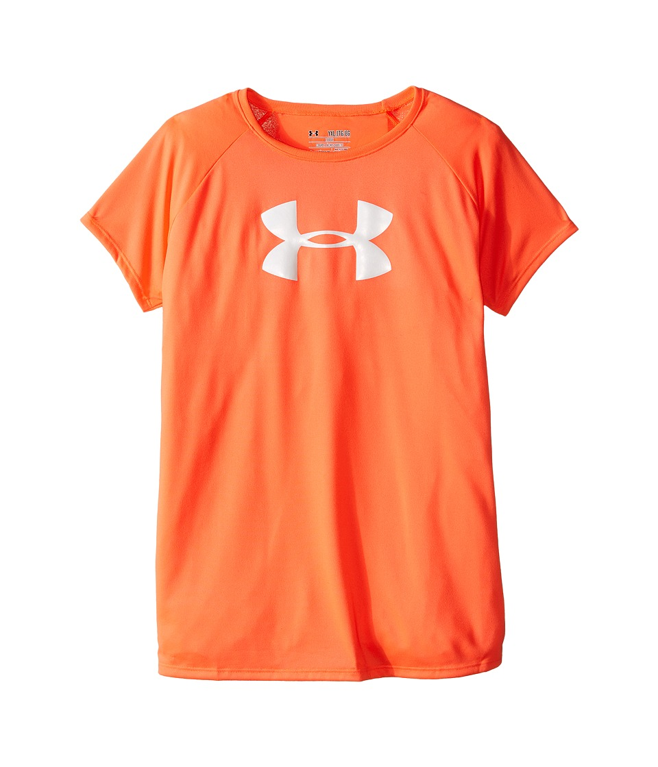 Under Armour Kids - Solid Big Logo Short Sleeve Tee (Big Kids) (After Burn) Girl's T Shirt