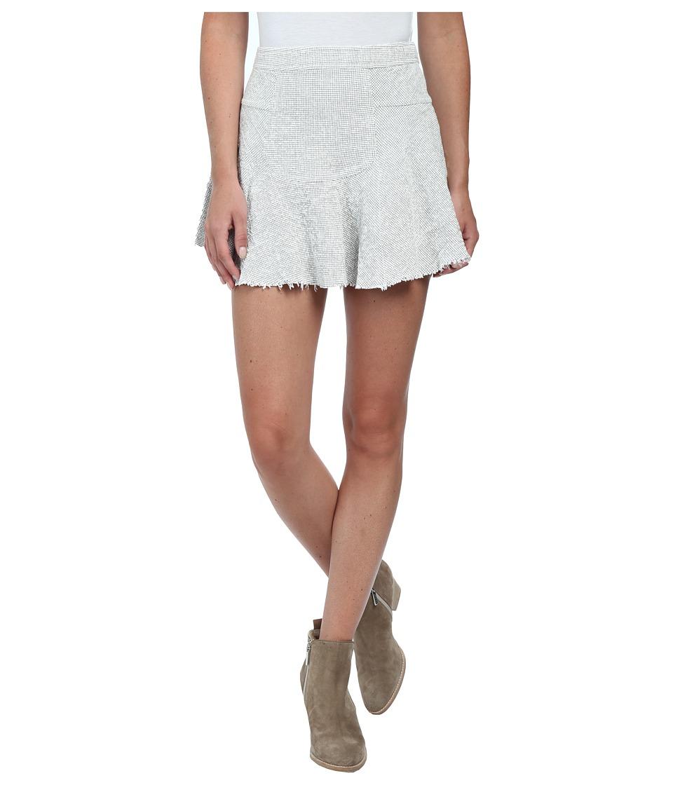 Free People - Cotton Texture Sunshine Smile Skirt (Ivory/Black Combo) Women