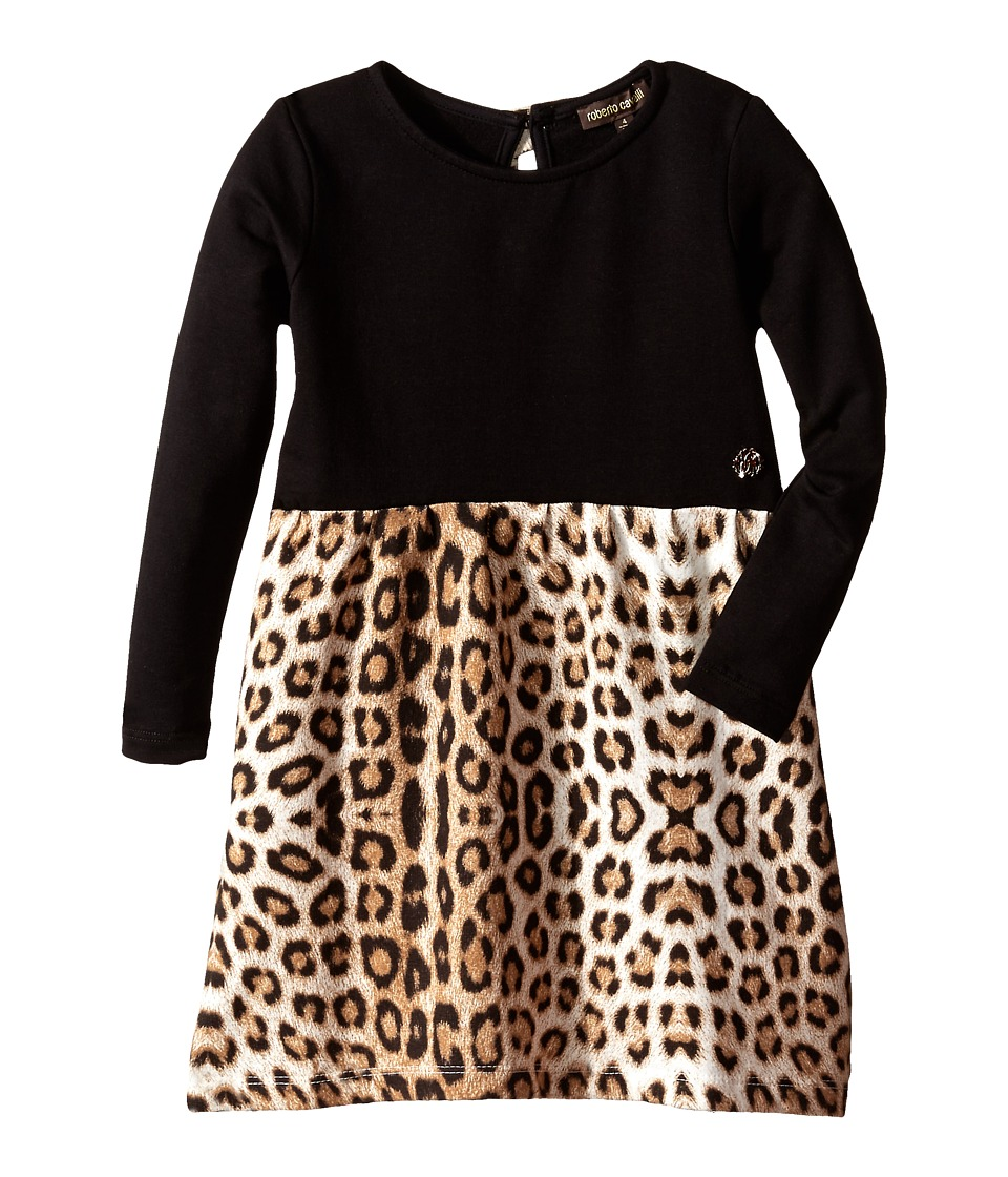 Roberto Cavalli Kids - Leopard Print Dress (Toddler) (Multi) Girl's Dress