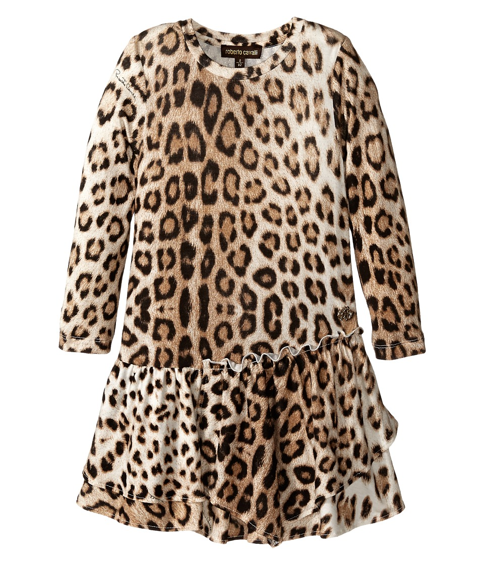 Roberto Cavalli Kids - Leopard Dress (Toddler) (Multi) Girl's Dress