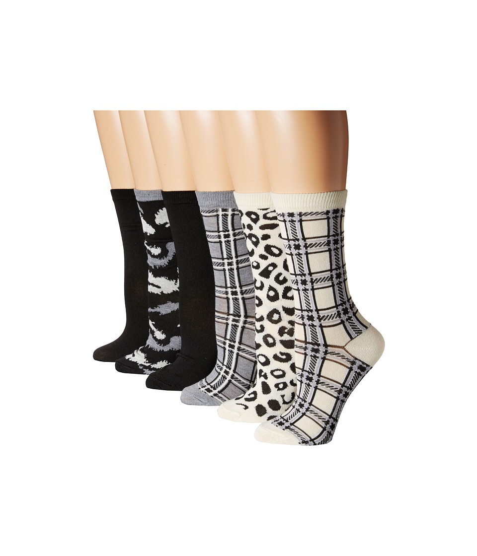 Steve Madden - 6-Pack Crew Socks (Off White) Women's Crew Cut Socks Shoes