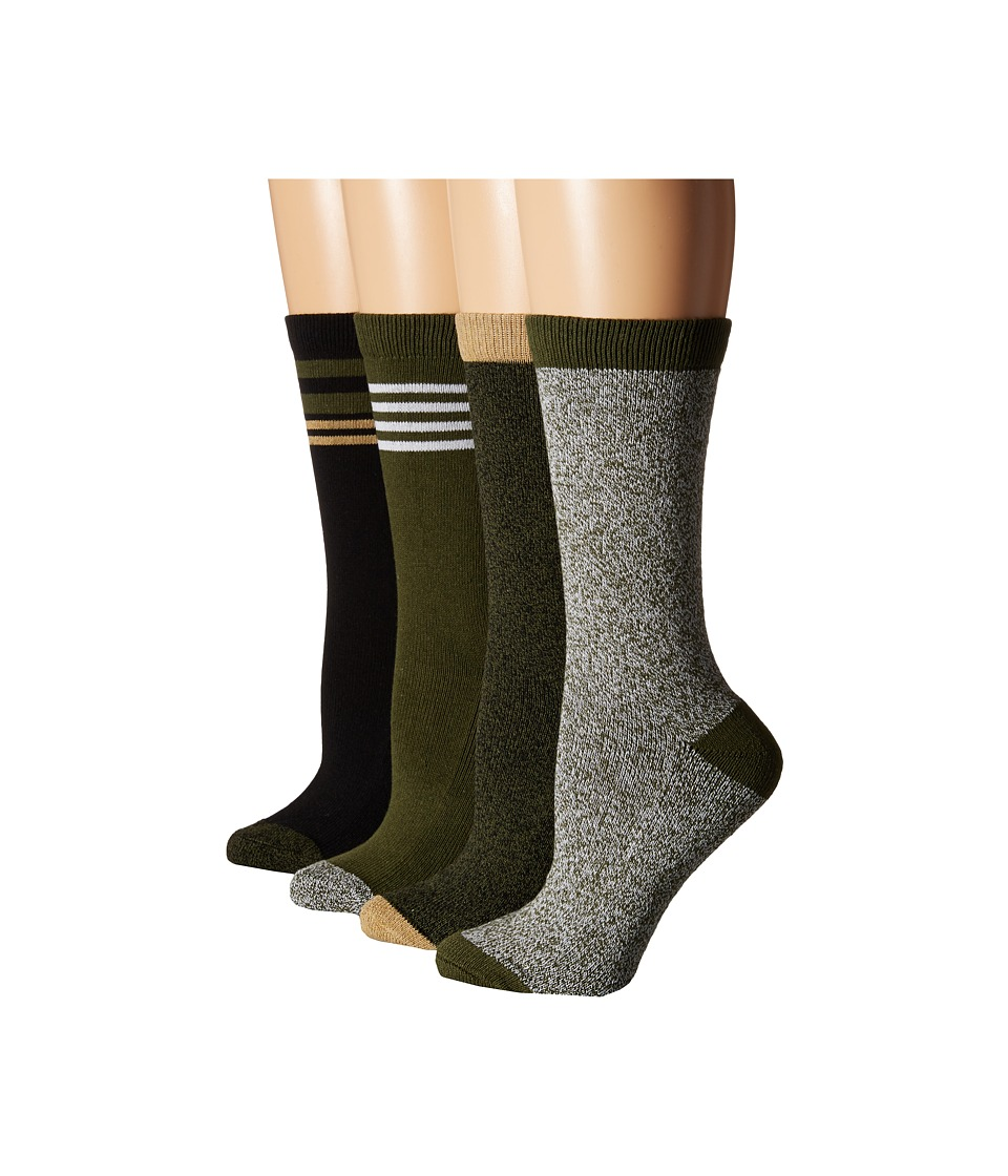Steve Madden - 4-Pack Boot Socks (Olive/Black) Women's Knee High Socks Shoes