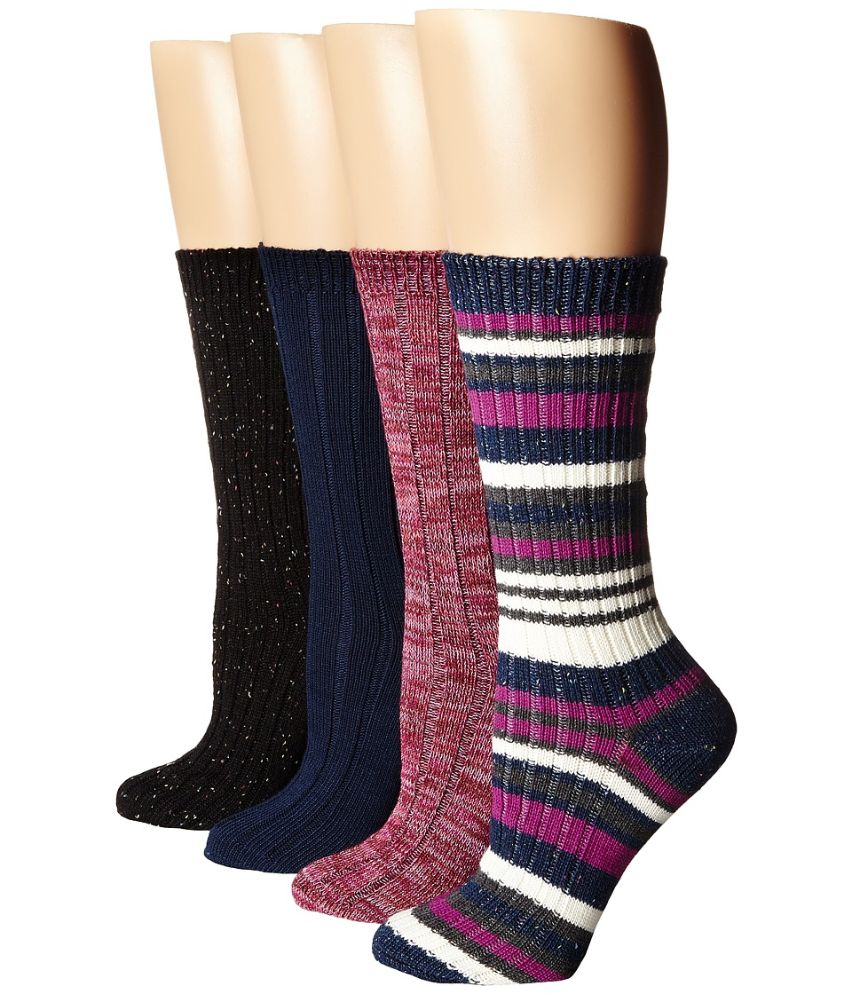 Steve Madden - 4-Pack Boot Socks (Navy/Charcoal) Women's Knee High Socks Shoes