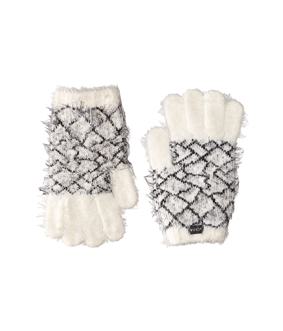 RVCA - Fuzz Off Gloves (Vintage White) Extreme Cold Weather Gloves