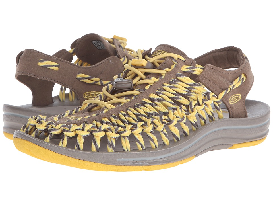 Keen - Uneek (Shitake/Mimosa) Women's Toe Open Shoes