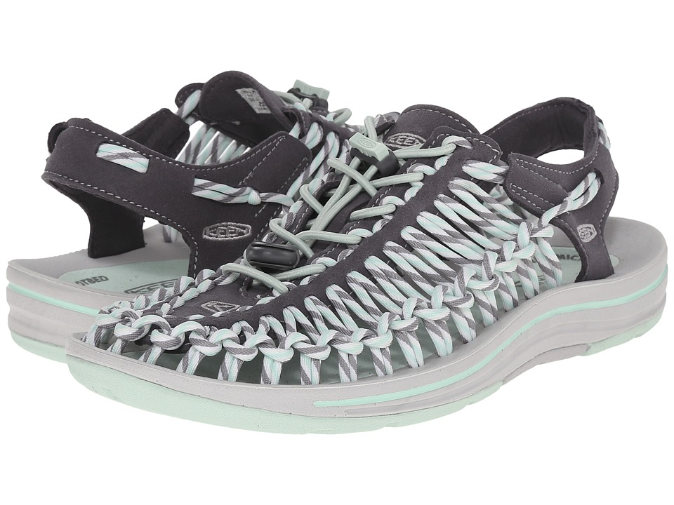 Keen - Uneek (Magnet/Misty Jade) Women's Toe Open Shoes
