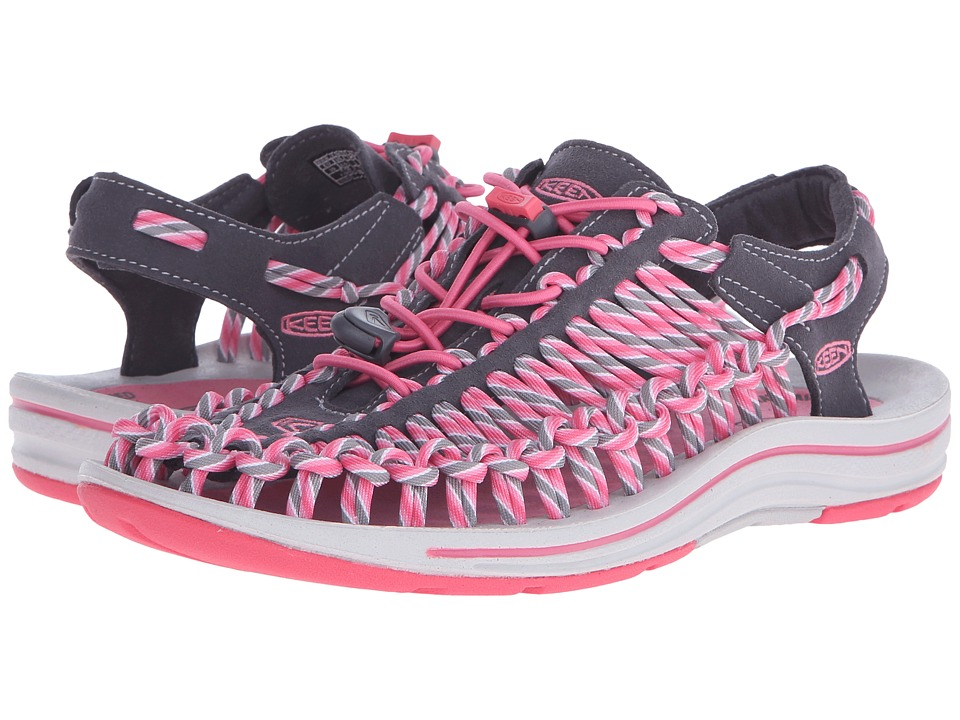 Keen - Uneek (Magnet/Camellia Rose) Women's Toe Open Shoes