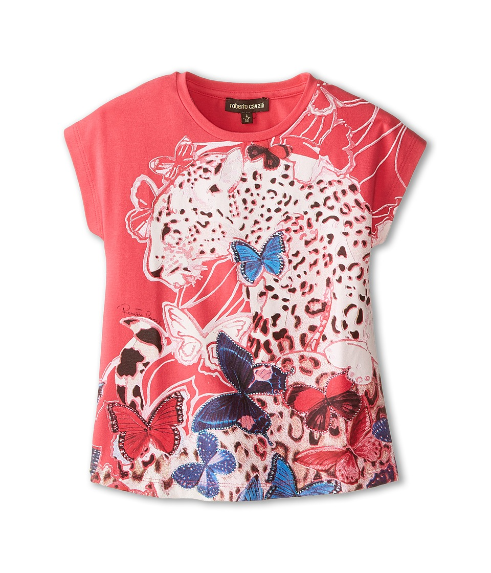 Roberto Cavalli Kids - Short Sleeve Butterfly Tee (Little Kids/Big Kids) (Multi) Girl's T Shirt