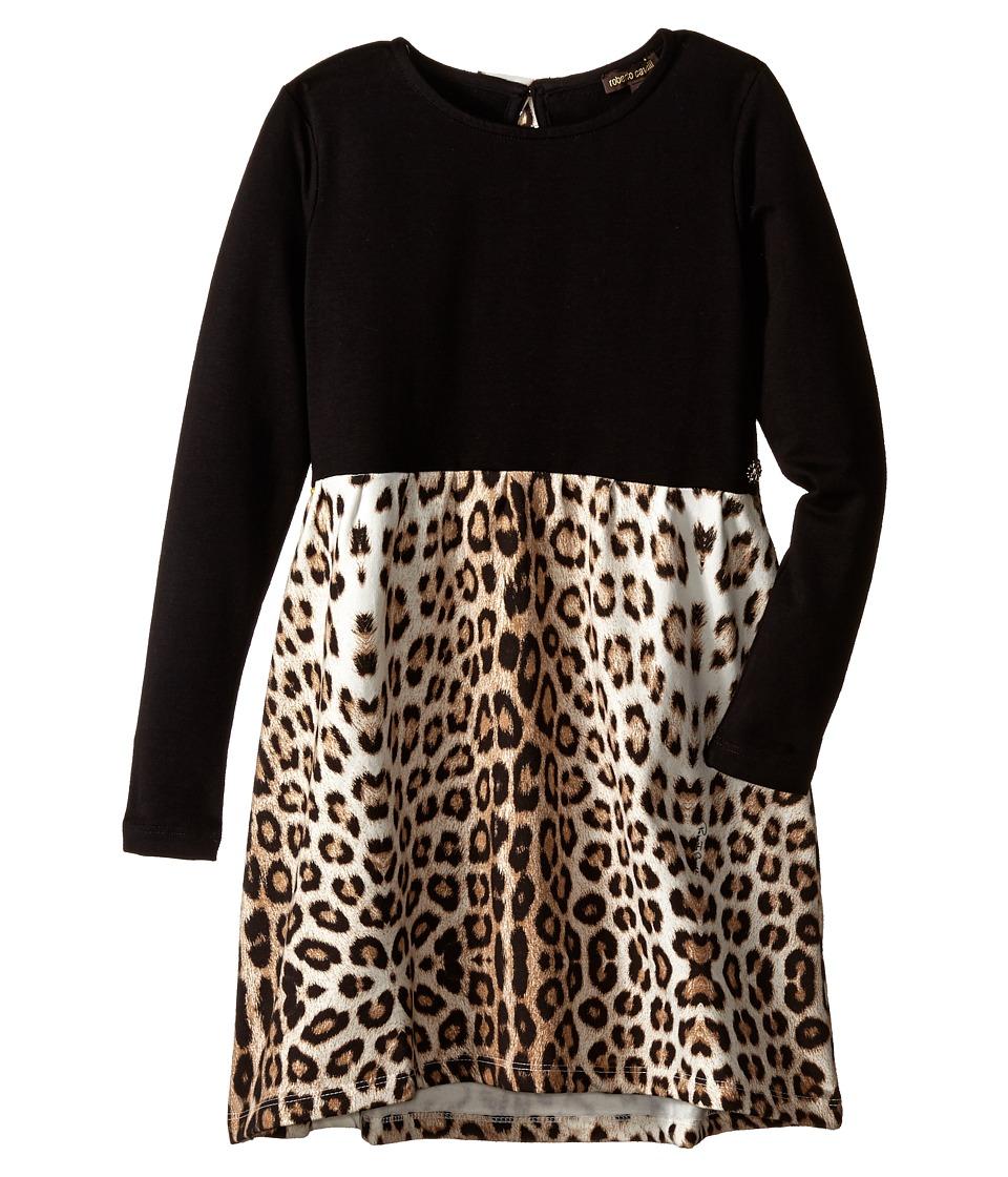 Roberto Cavalli Kids - Leopard Print Dress (Little Kids/Big Kids) (Multi) Girl's Dress
