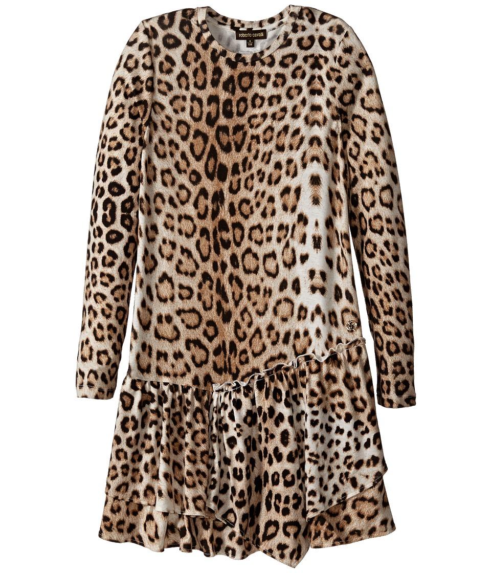 Roberto Cavalli Kids - Leopard Dress (Little Kids/Big Kids) (Multi) Girl's Dress