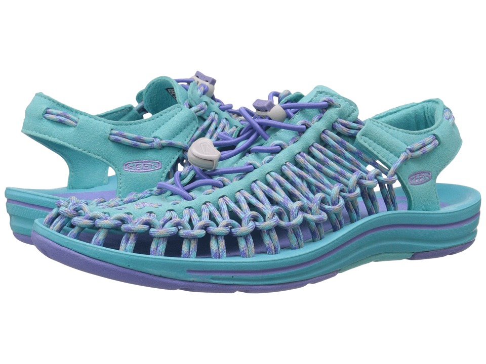 Keen - Uneek (Capri Breeze/Periwinkle) Women's Toe Open Shoes