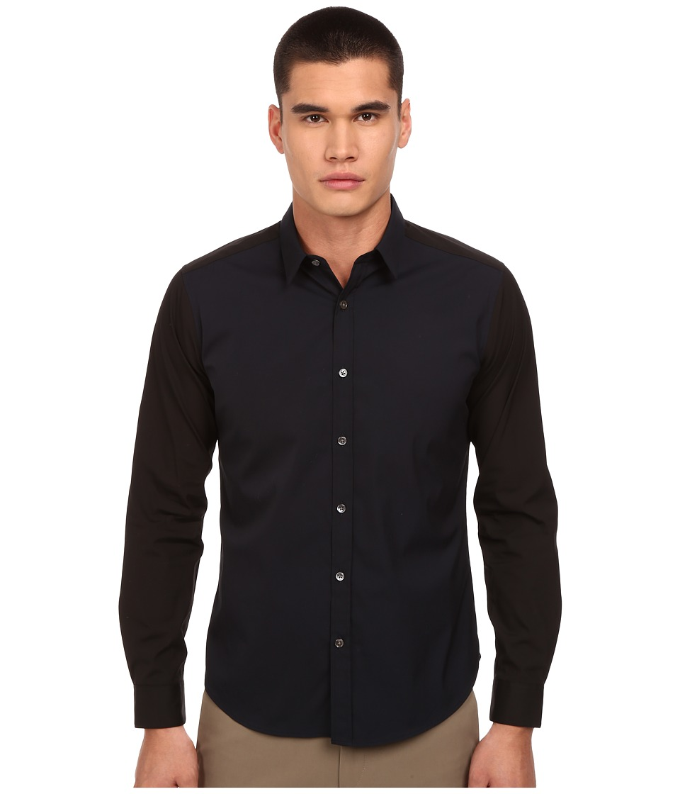 Theory - Zack PS CB.Ostend (Eclipse) Men's Long Sleeve Button Up
