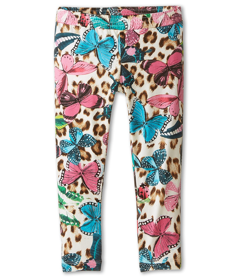 Roberto Cavalli Kids - Butterfly Print Leggings (Little Kids/Big Kids) (Multi) Girl's Clothing