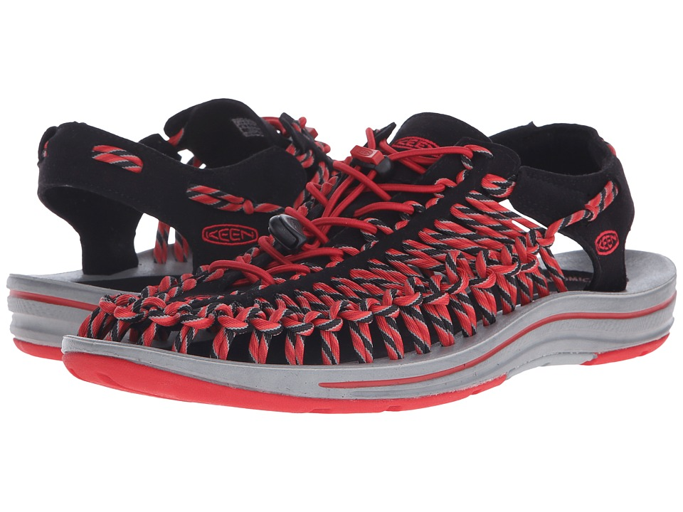 Keen - Uneek (Black/Racing Red) Men's Shoes