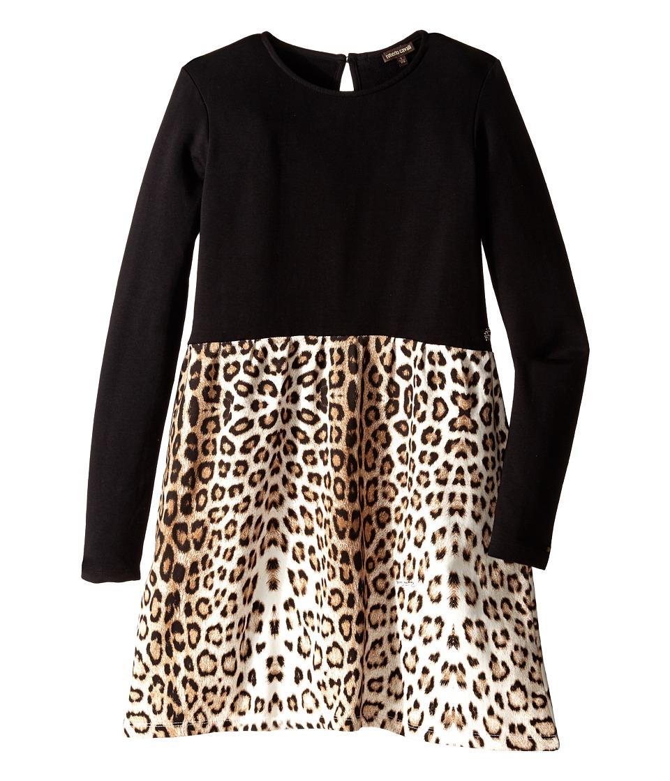 Roberto Cavalli Kids - Leopard Print Dress (Big Kids) (Multi) Girl's Dress