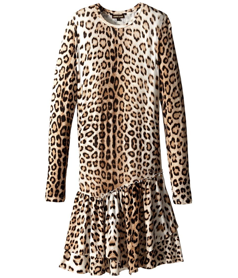Roberto Cavalli Kids - Leopard Dress (Big Kids) (Multi) Girl's Dress