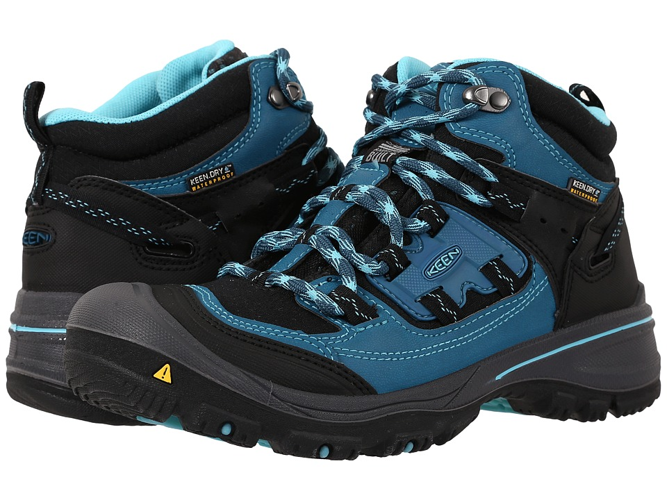 Keen - Logan Mid (Ink Blue/Capri Breeze) Women's Waterproof Boots