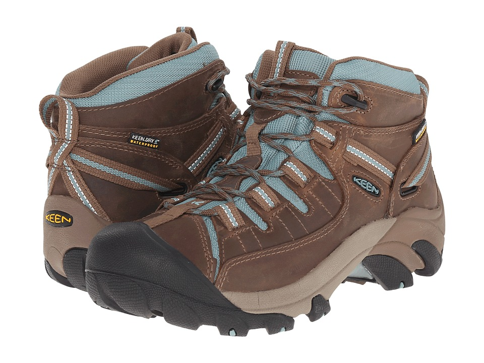 Keen - Targhee II Mid (Shitake/Mineral Blue) Women's Hiking Boots