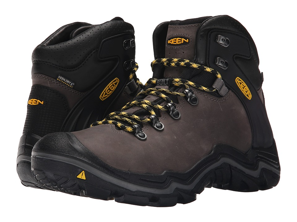 Keen - Liberty Ridge (Gargoyle/Yellow) Men's Waterproof Boots