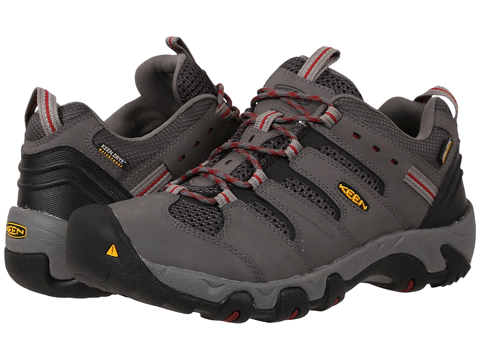 Keen Koven Low WP (Gargoyle/Red Dahlia) Men