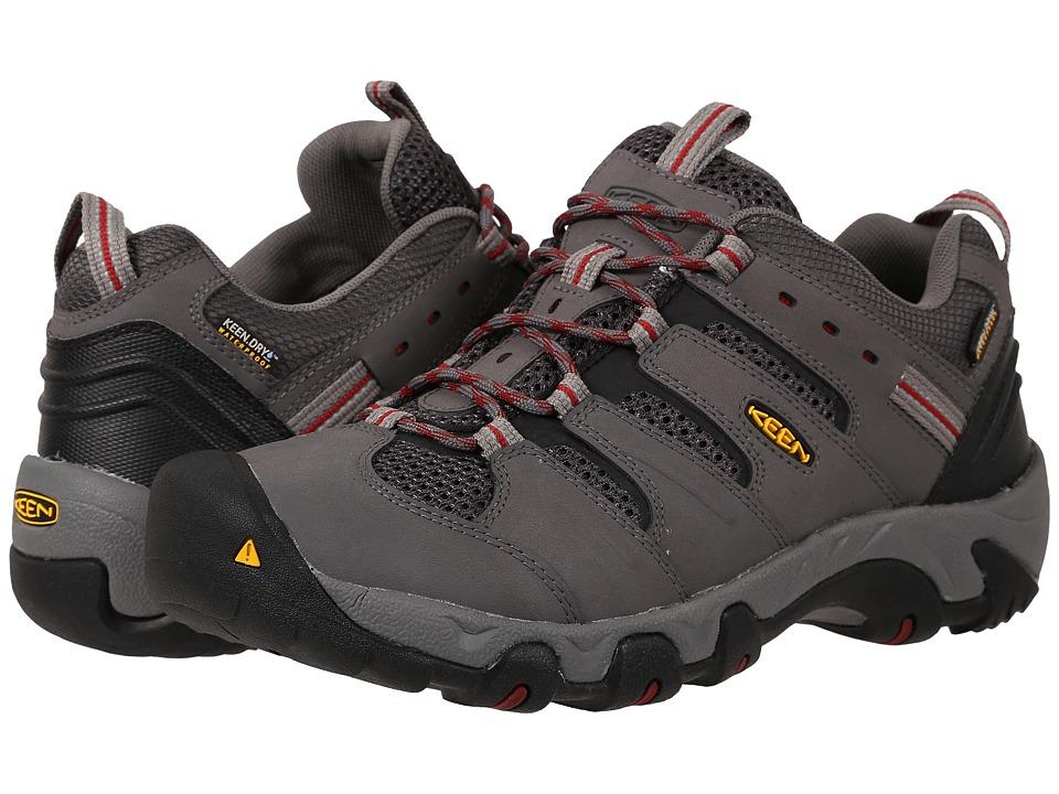 Keen - Koven Low WP (Gargoyle/Red Dahlia) Men's Hiking Boots