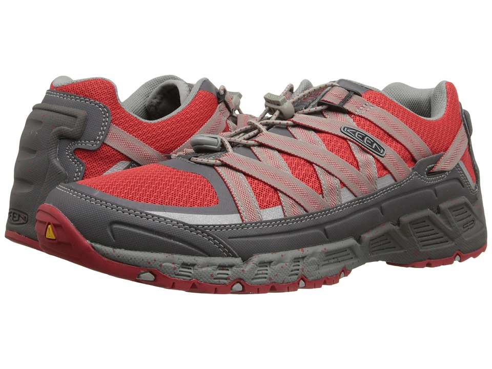 Keen - Versatrail (Magnet/Racing Red) Men's Shoes