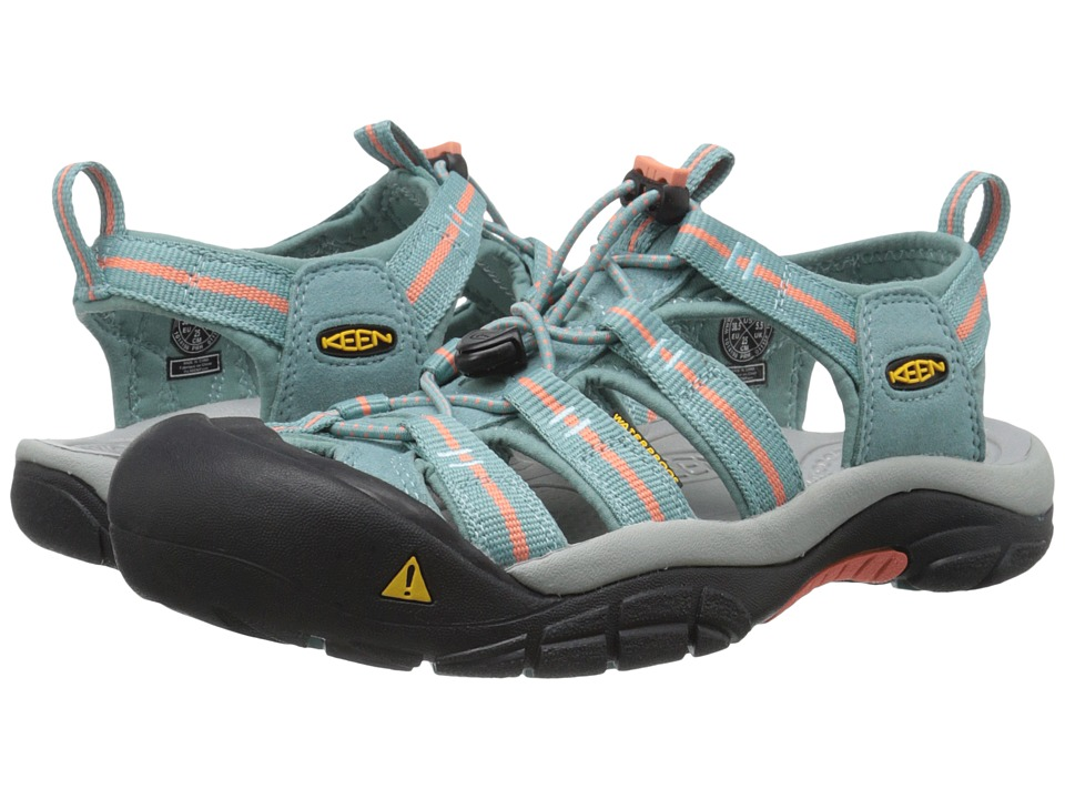 Keen - Newport H2 (Mineral Blue/Fusion Coral) Women's Shoes