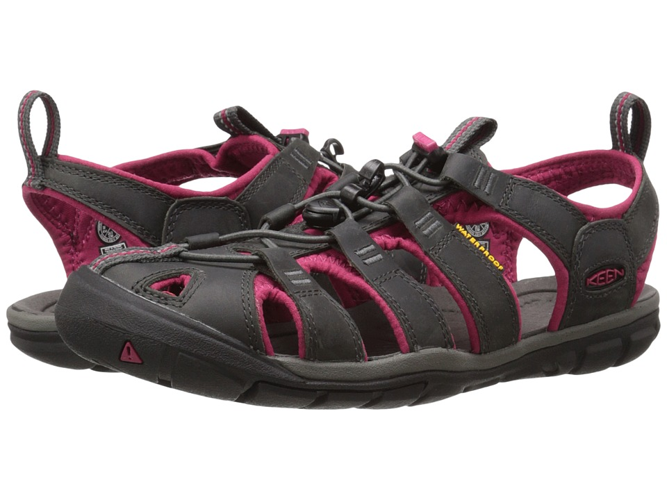 Keen - Clearwater Leather (Magnet/Sangria) Women's Shoes