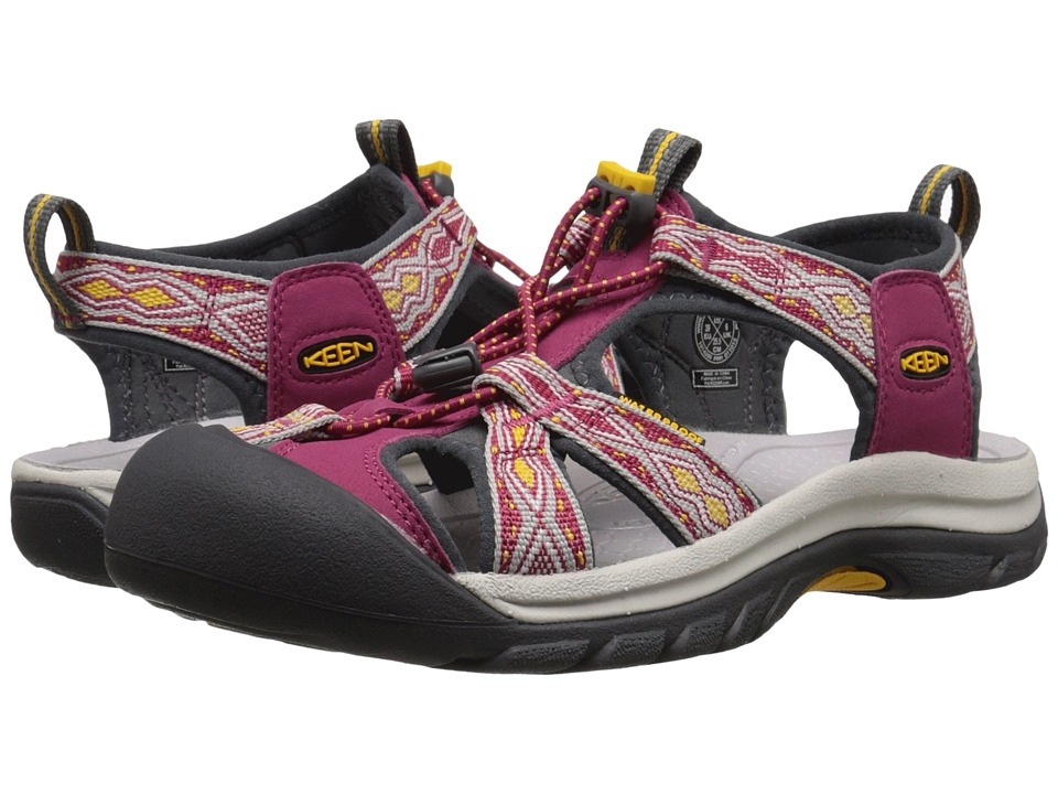 Keen - Venice H2 (Sangria/Spectra Yellow) Women's Sandals