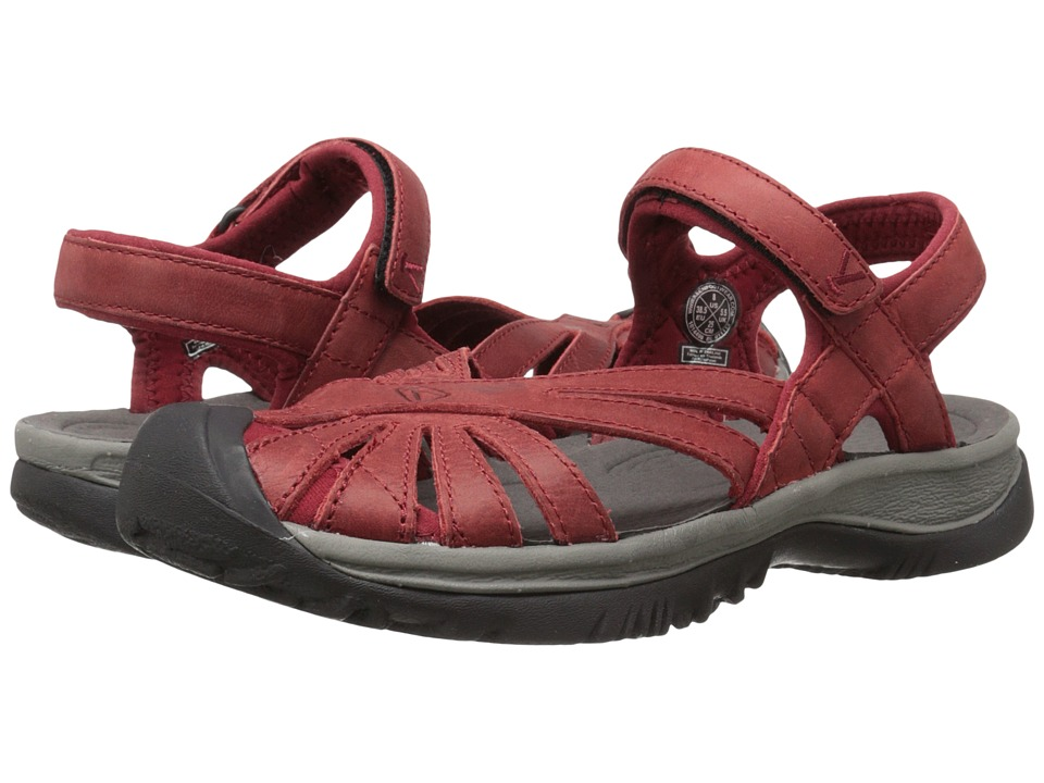 Keen Rose Leather (Red Dahlia/Gargoyle) Women