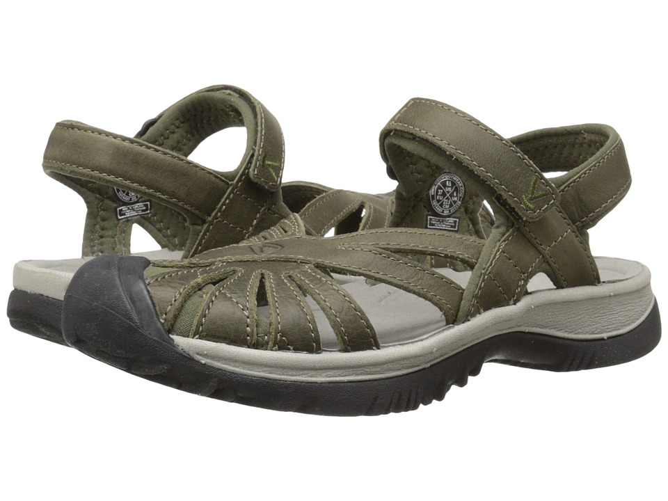 Keen Rose Leather (Burnt Olive/Neutral Gray) Women