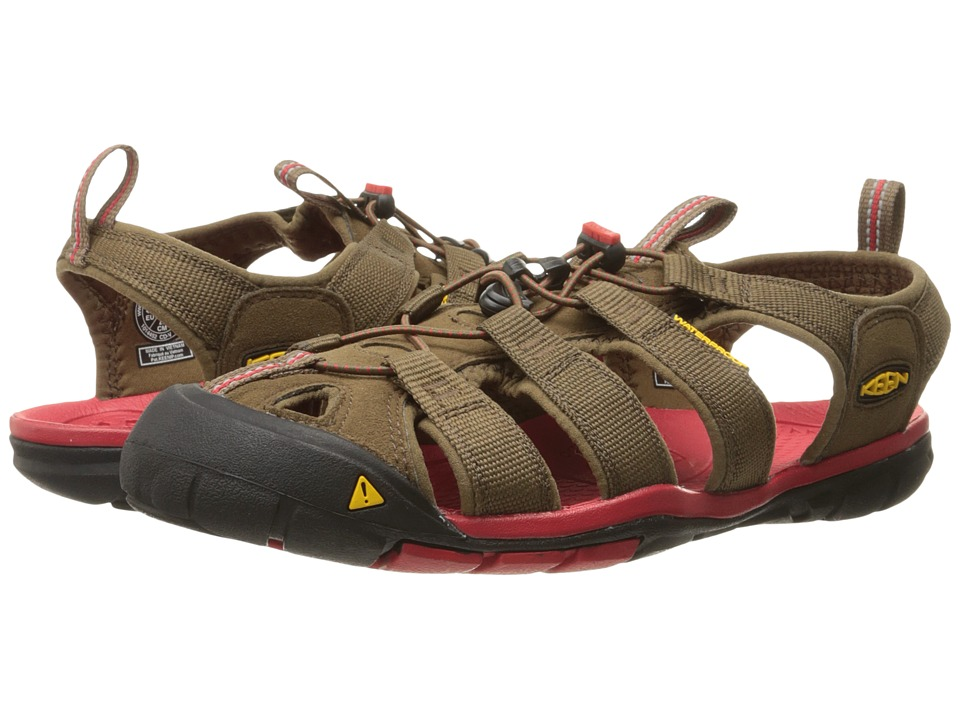 Keen Clearwater CNX (Dark Earth/Racing Red) Men
