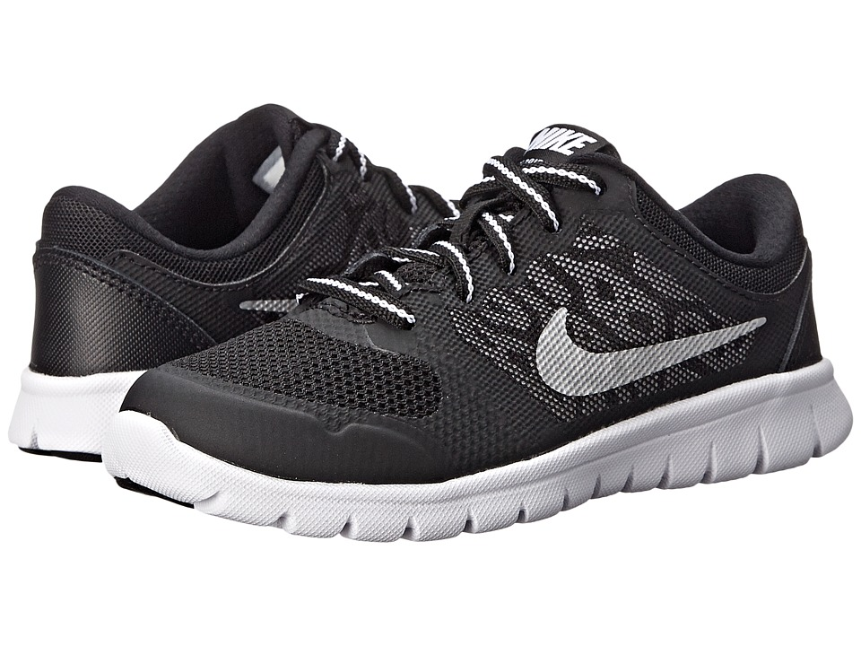 Nike Kids - Flex 2015 Run (Little Kid) (Wolf Grey/Black/White) Boys Shoes