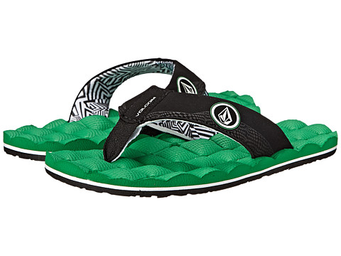 Volcom Kids - Recliner (Little Kid/Big Kid) (Electric Green) Boys Shoes