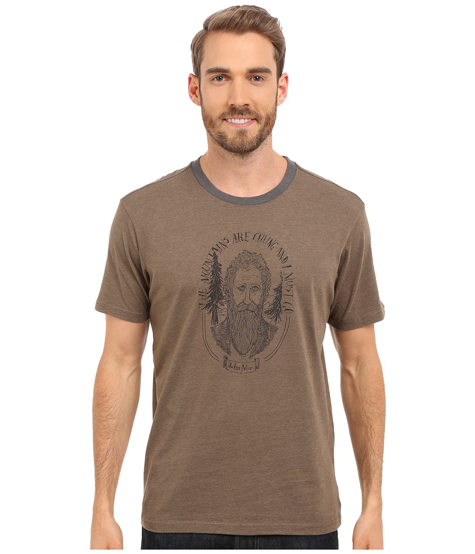 Prana - Muir Ringer (Mud) Men's Short Sleeve Pullover