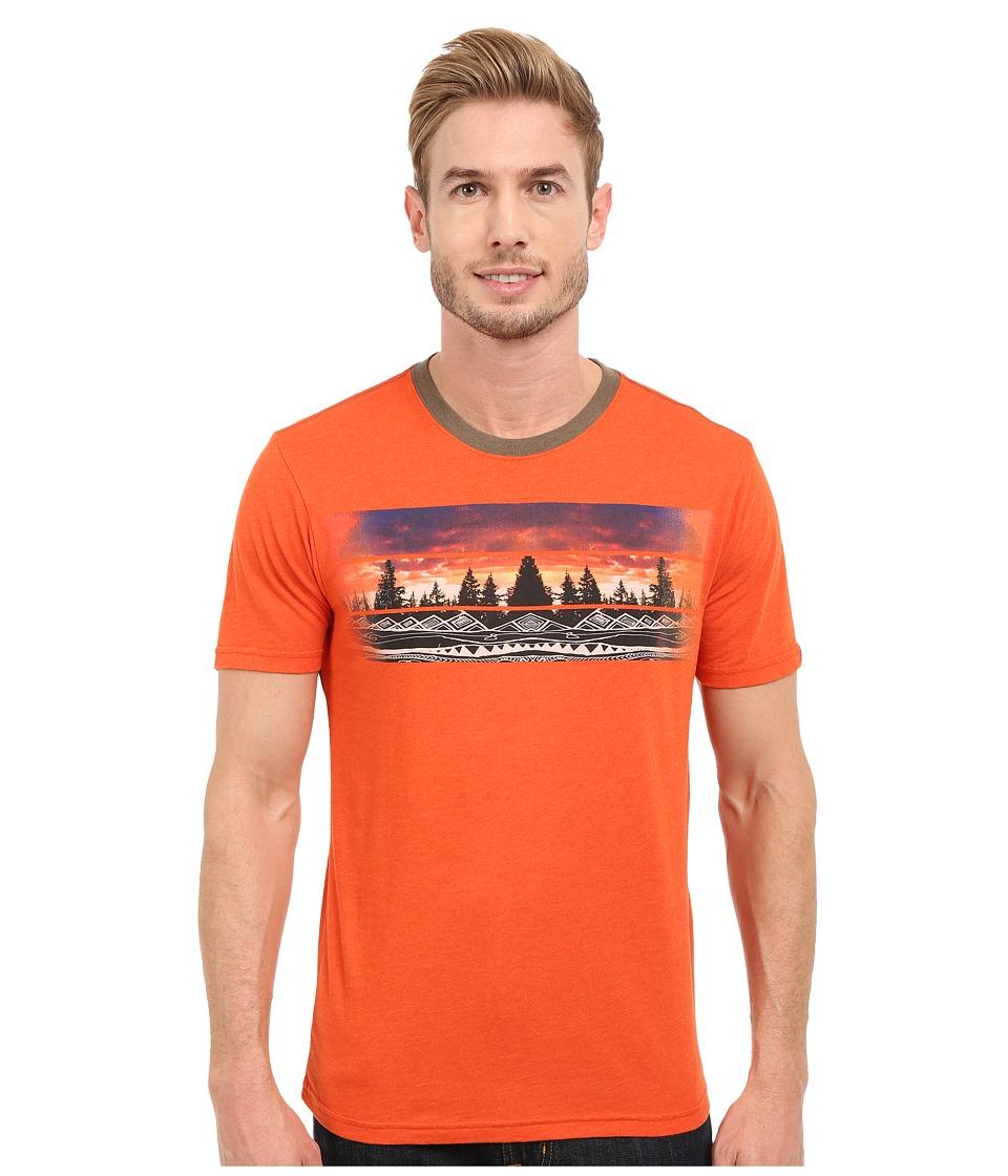 Prana - Vibes Ringer (Cayenne) Men's T Shirt