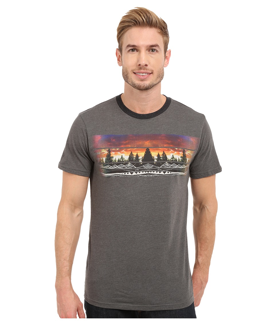 Prana - Vibes Ringer (Charcoal) Men's T Shirt
