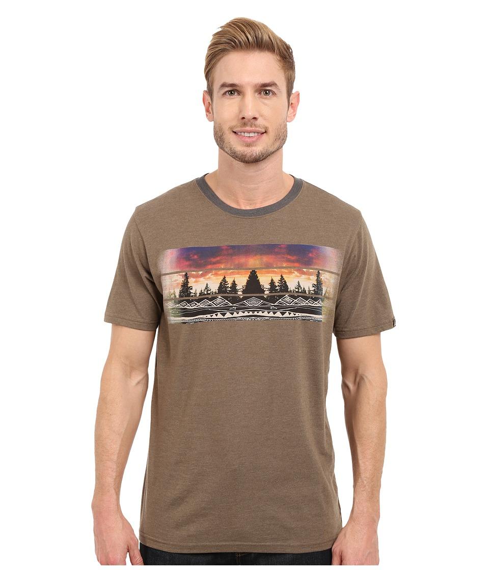Prana - Vibes Ringer (Mud) Men's T Shirt