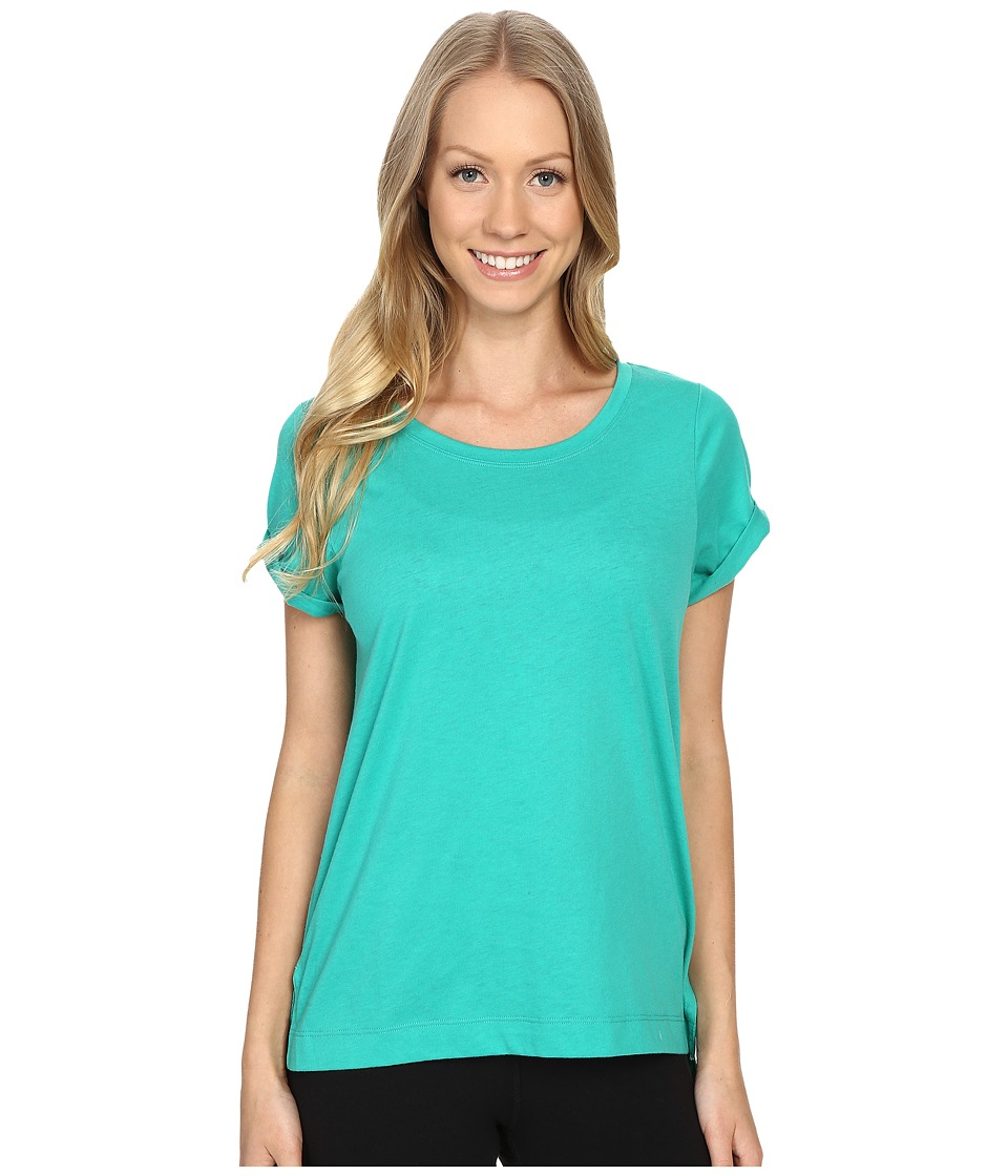 Lole - Dia Tee (Green Tropic) Women's Short Sleeve Pullover