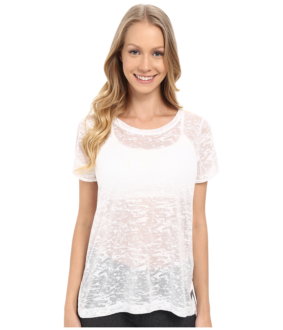 Lole - Dia Tee (White Texture) Women's Short Sleeve Pullover