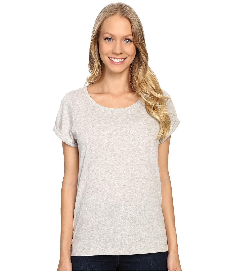 Lole - Dia Tee (Warm Grey Heather) Women's Short Sleeve Pullover