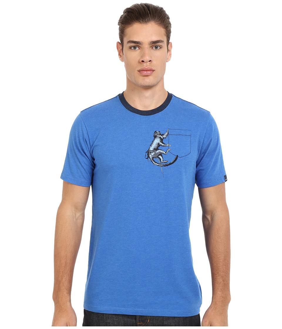 Prana - Silly Monkey Ringer (Classic Blue) Men's T Shirt